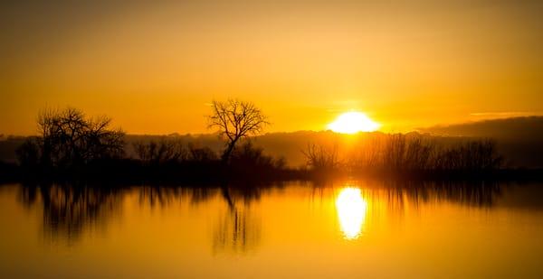 Lake Sunrise Colorado Landscape