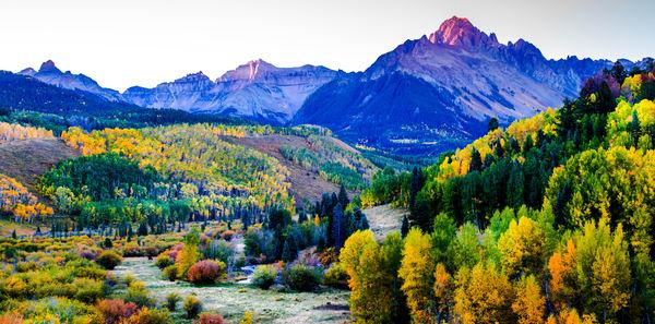 Photo of Uncompahgre Peak in Uncompahgre Wilderness outside of Ouray Colorado