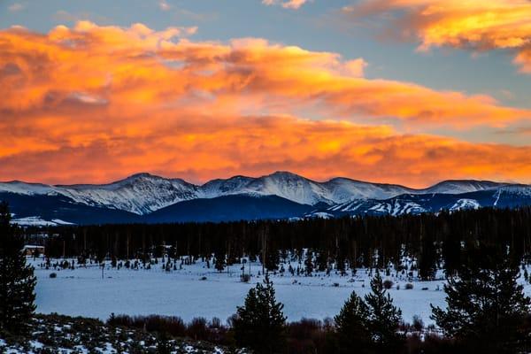 Photograph of Grand County Colorado Winter Park Resort Sunset