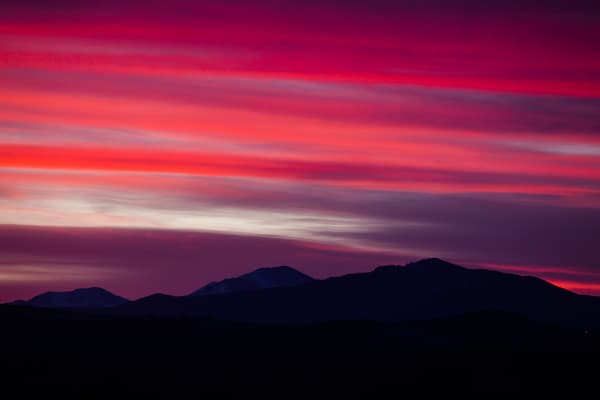 Crimson Red Sunset Photograph over Fort Collins Colorado