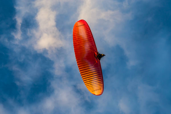 Paraglinding In The Clouds