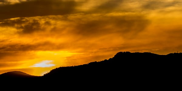 Horsetooth Rock Fort Collins at Sunset