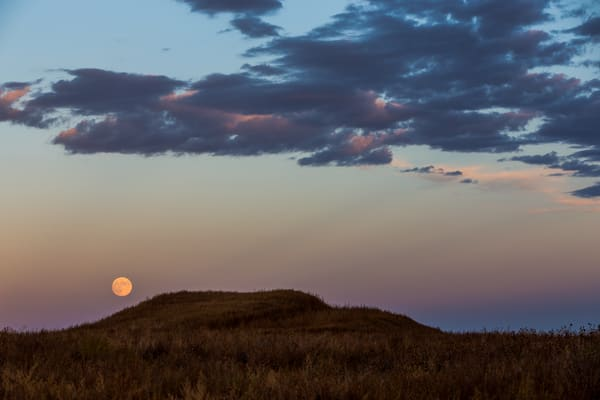 Photograph of the Moon on the Butte in Gunnison, Colorado outside of Black Canyon National Park
