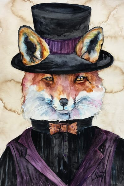 Steampunk Mr Fox Art | Christy! Studios