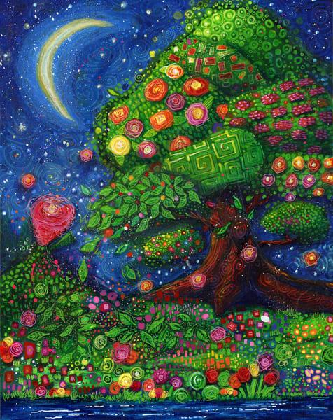 Under A Thumbnail Moon, Original Painting Art | Jessica Hughes Fine Art