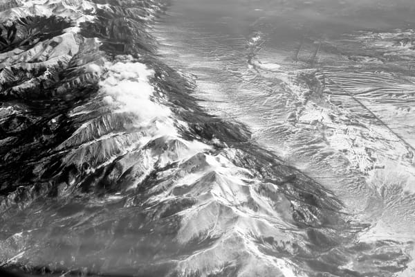Flight Over Arizona (Black And White) Photography Art | Julie Williams Fine Art Photography