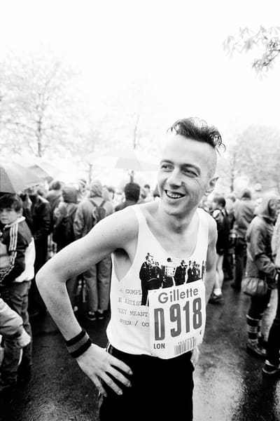 Joe Strummer before the 1983 London Marathon
