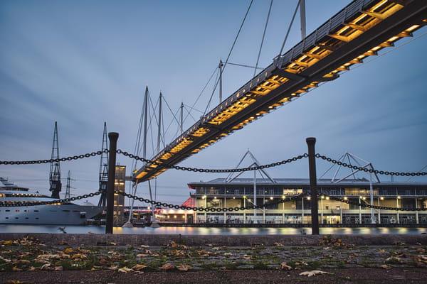 Royal Victoria Dock Footbridge Photography Art | Martin Geddes Photography