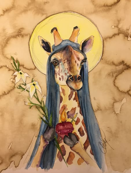 Holy Mother Giraffe Gives Her Blessing Art | Christy! Studios