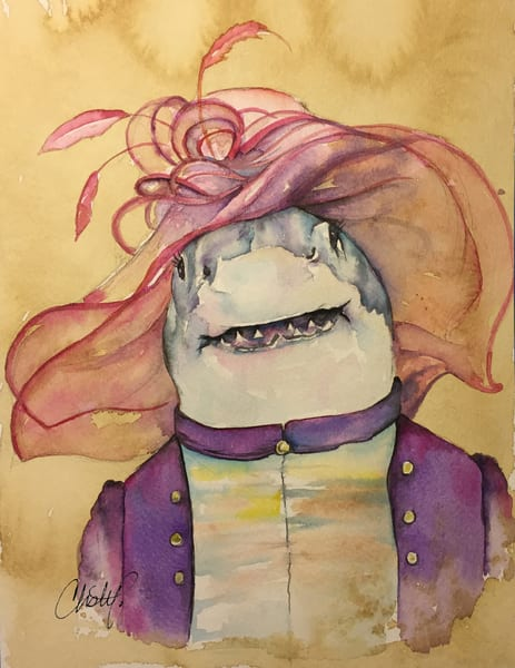 Steampunk Mrs Shark Derby Ready Art | Christy! Studios
