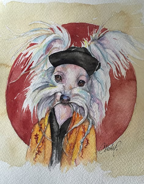 Tasso Chinese Crested Fu Man Chu Dog Art | Christy! Studios