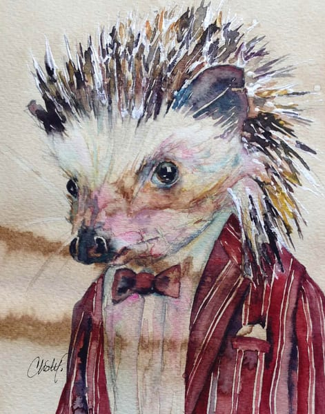 Hank Hedgehog Steampunk Critter Art | Christy! Studios