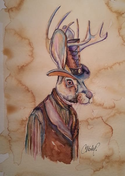 Jackalope Stea Art | Christy! Studios