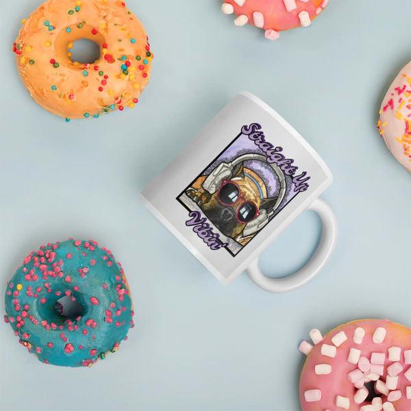 Straight Up Vibin' Ceramic Coffee Mug | Water+Ink Studios