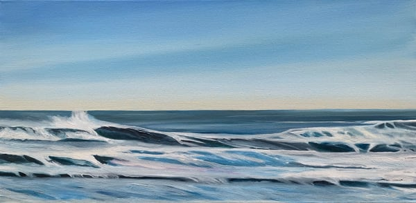 """Wind Effect"" Oil on Canvas Original Oceanscape"