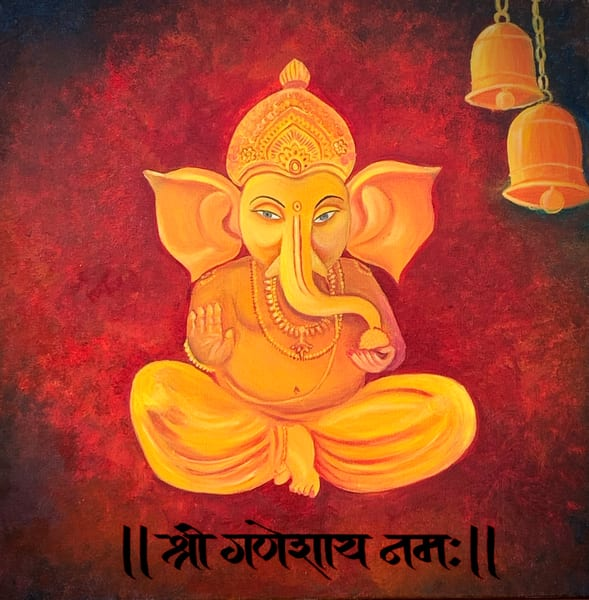 """Ganesha"" in Oils by Aprajita Lal"
