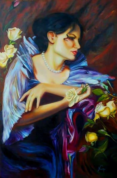 Lady In Blue Art | Art Design & Inspiration Gallery