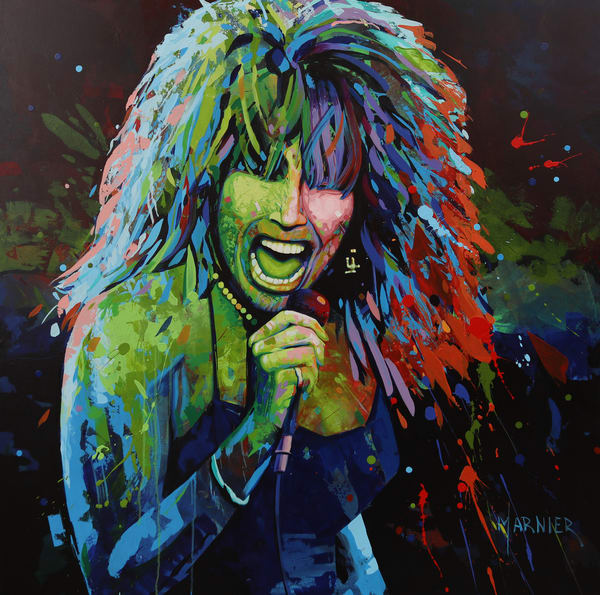 Tina Turner, American-born Swiss Singer, songwriter, Dancer, and Actress, Marnier Art,  Acrylic Painting