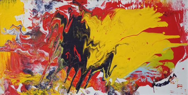 Bull And The Duck Original Art | Maciek Peter Kozlowski Art