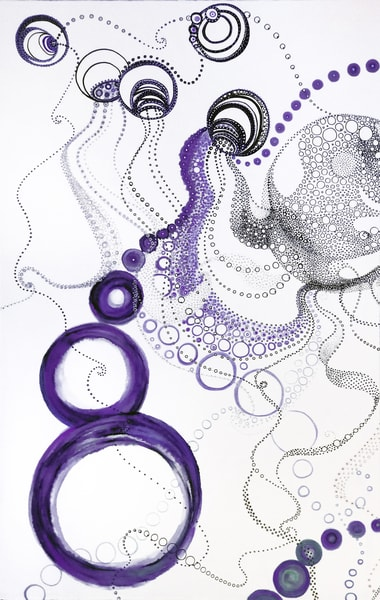 Maria's Circles 1   Purples Art | Artist Rachel Goldsmith, LLC