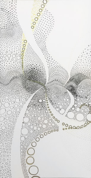 Circles Making Negative Space Art | Artist Rachel Goldsmith, LLC