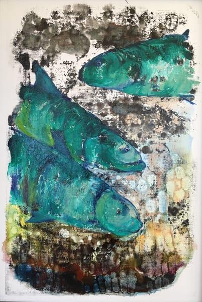 "Sold: ""3 Fish"" Art | Emily Gilman Beezley"
