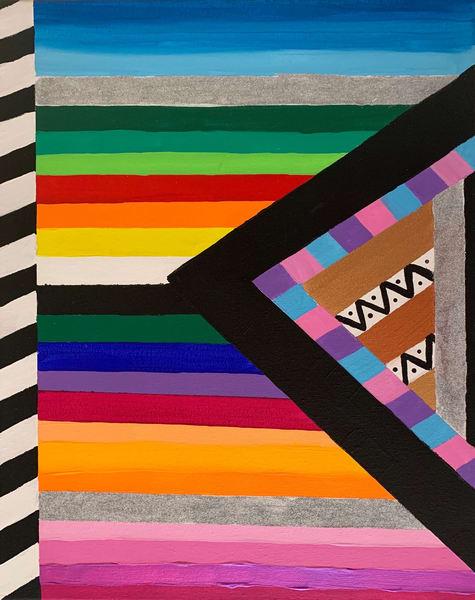 Geometric Rainbow Art   Courtney Einhorn