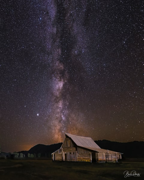 T.A Moulton Barn and the Milky Way