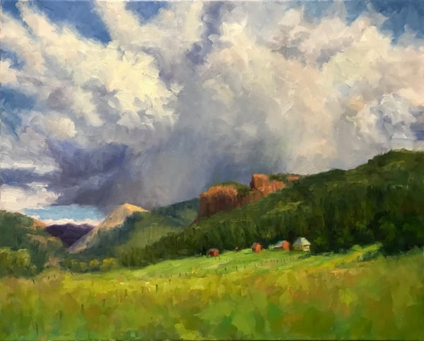 Gathering Storm Clouds Art   B. Oliver, Art