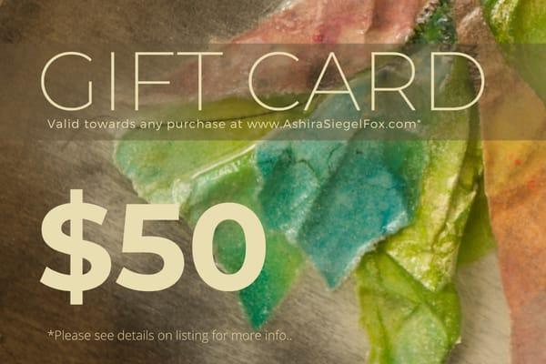 $50 Gift Card | Ashira Siegel Fox