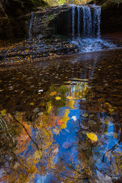 Reflections on Lost Creek Falls