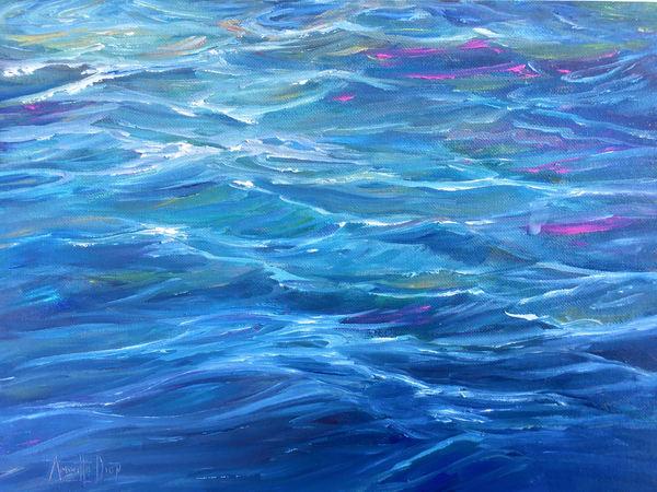 Wet Water Art | vibrant art studio, Art by Annette Dion McGowan