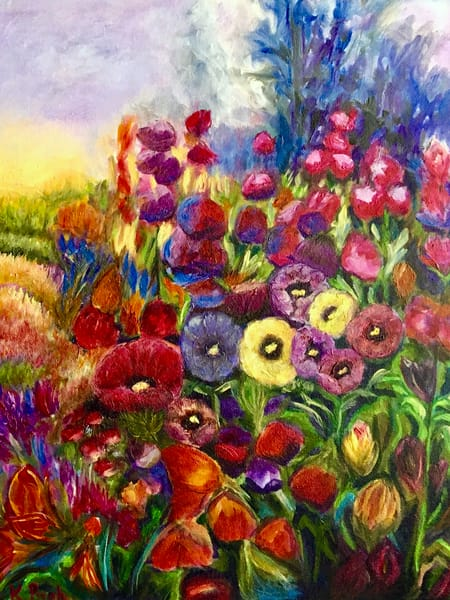 K Pugh   Hollyhocks Art | Branson West Art Gallery - Mary Phillip