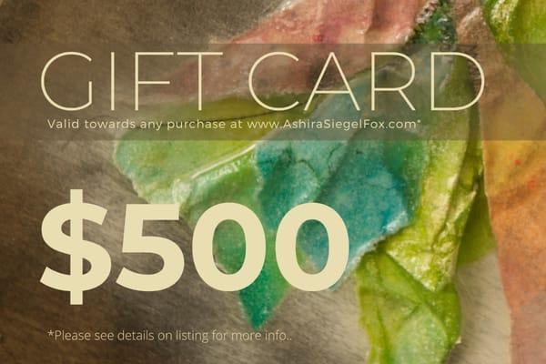 $500 Gift Card | Ashira Siegel Fox