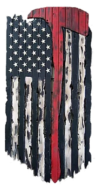 K Phillip   Firefighters Flag Art | Branson West Art Gallery - Mary Phillip