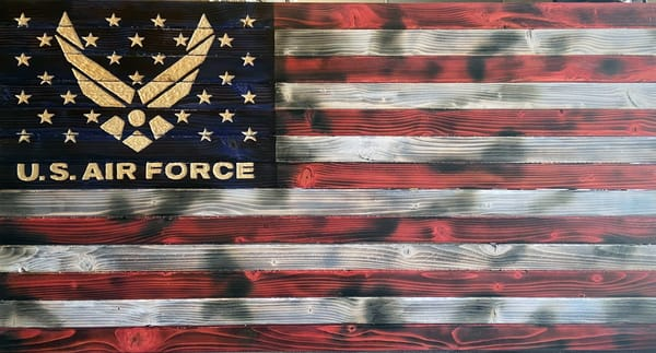 K Phillip   Air Force Flag Art | Branson West Art Gallery - Mary Phillip