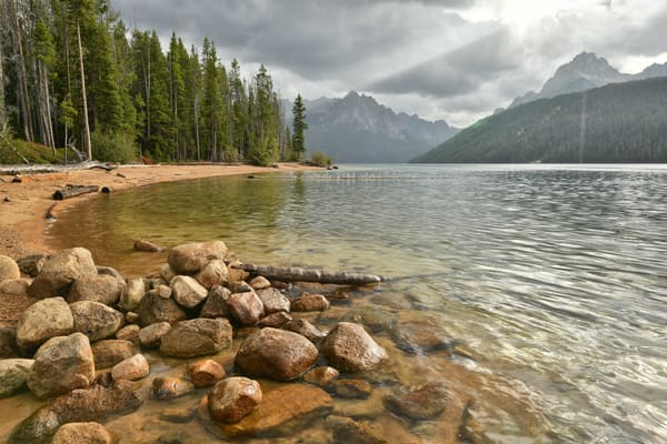 Let Your Glory Fall - Redfish Lake in Central Idaho - Fine Art Prints on Metal, Canvas, Paper & More By Kevin Odette