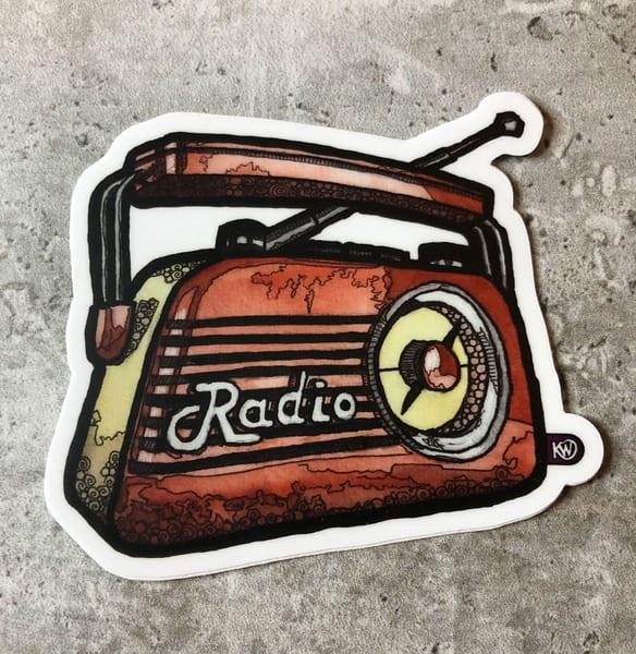 Radio Sticker | Water+Ink Studios