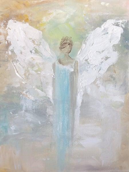 Angel In Blue Art | susie mccolgan art