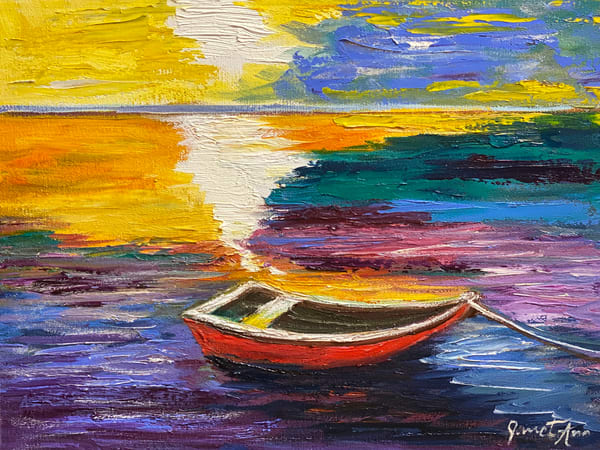 J Woods   Red Boat Art | Branson West Art Gallery - Mary Phillip