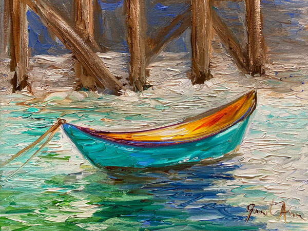 J Woods   Turquoise Boat Art | Branson West Art Gallery - Mary Phillip