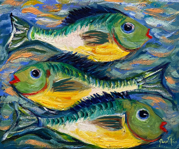 J Woods   Three Fish Art | Branson West Art Gallery - Mary Phillip
