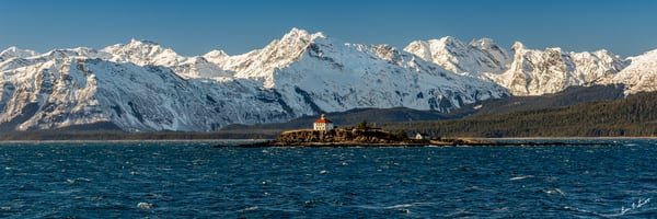 Eldred Rock Lighthouse   Pano Art | Alaska Wild Bear Photography
