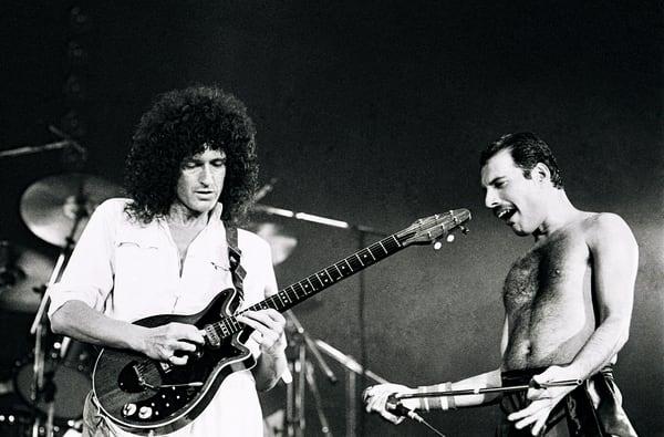 Freddie Mercury & Brian May of Queen