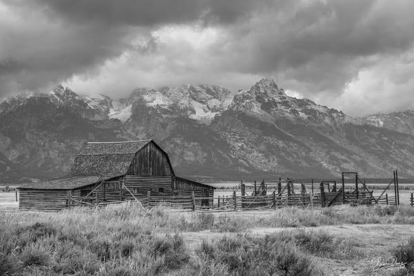 Old Barn in Grand Teton National Park (B&W)