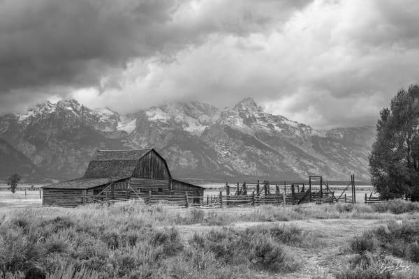 Old Barn in Grand Teton National Park II (B&W)