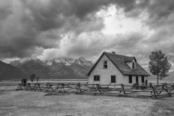 Old House in Grand Teton National Park (B&W)