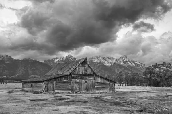 Old Barn in Grand Teton National Park IV (B&W)