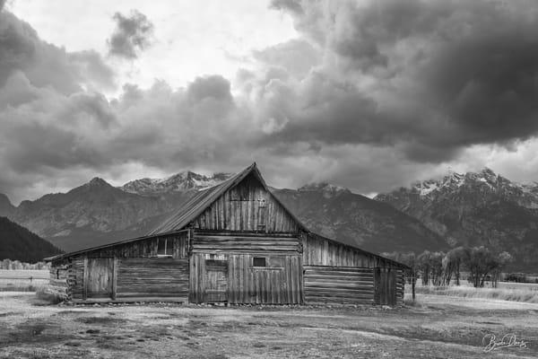 Old Barn in Grand Teton National Park V (B&W)
