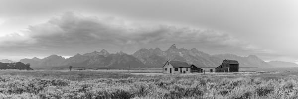 Old Homestead in Grand Teton National Park (B&W)